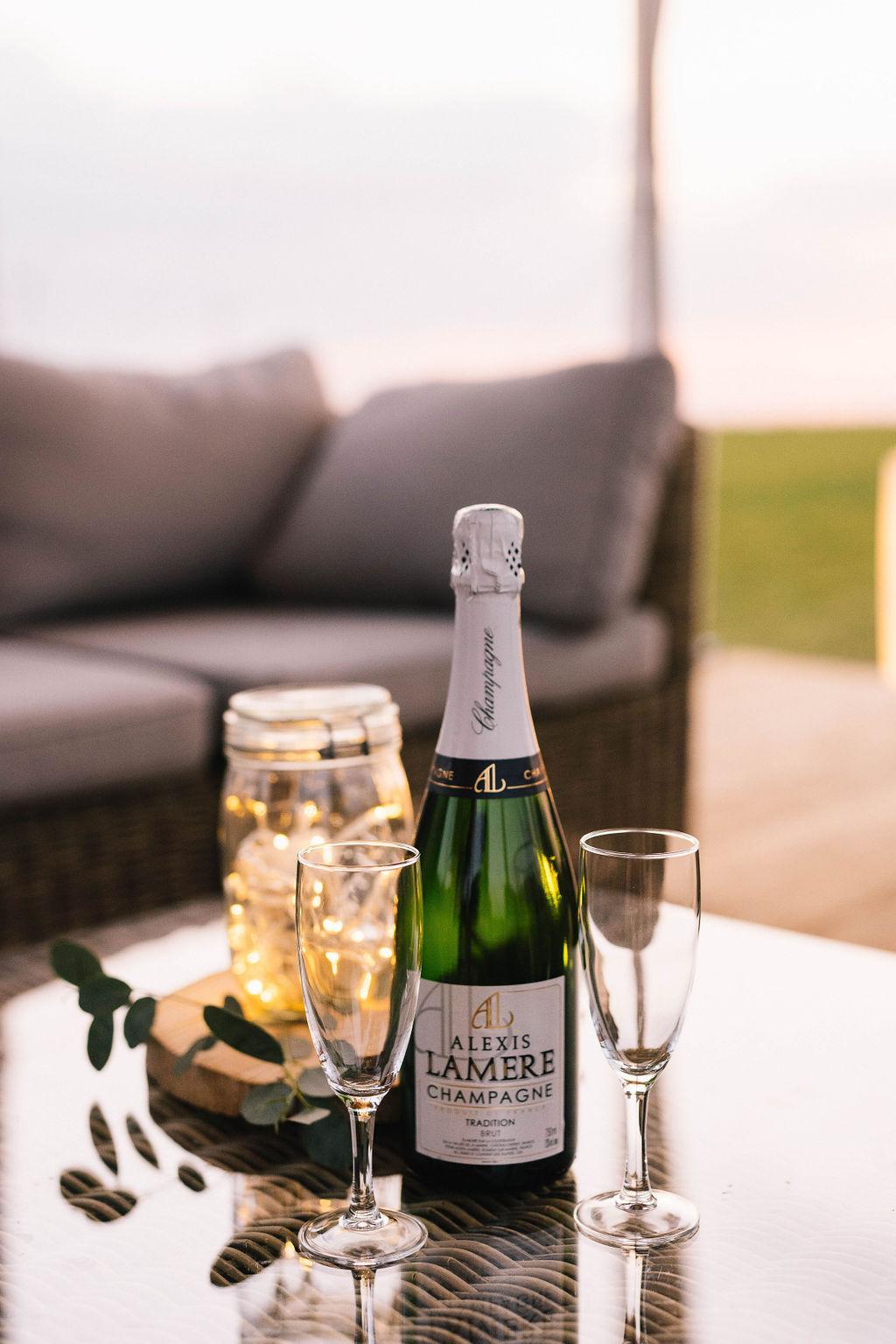 champagne en pleine campagne